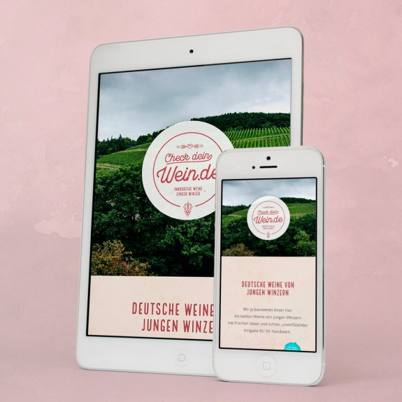 Checkdeinwein.de – Website: Tablet & Mobile